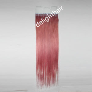High Quality Virgin Brazilian Silky Straight Remy Human Tape Hair Extension Nhte-005