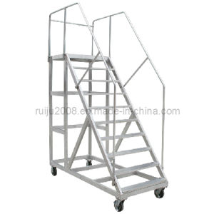 Aluminum Mobile Platform Ladder for Auxiliary Equipment pictures & photos