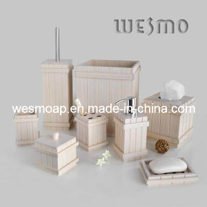 White Bamboo Bath Set Household Product (WBB0608B) pictures & photos