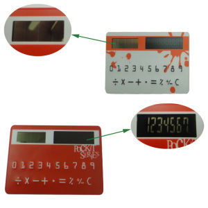 Solar Powered Thin Pocket Credit Card Calculator pictures & photos