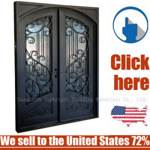 Cheap Price Entrance Wrought Iron Door pictures & photos
