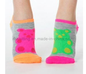 Children Ankle Cotton Socks with Mismatched Color (CS-101)