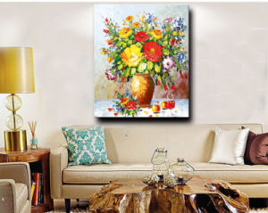 100%Handmade Decoration Flower Oil Painting on Canvas, Still Life Flower pictures & photos