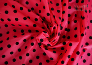 100% Nylon Taffeta Semi/Dull Fabric with DOT Flocking and Downproof Coated (NT-380FDS) pictures & photos