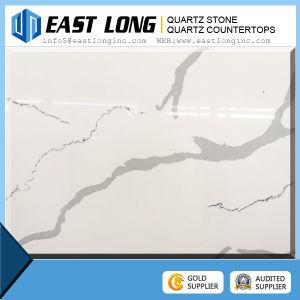 Artificial Quartz Stone for The Countertop Quartz Stone Slab Tile Calacatta White Artificial Original Engineered Quartz pictures & photos