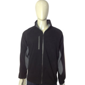 Custom Men′s Full Zip Polar Fleece Jacket pictures & photos