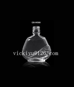 80ml Glass Wine Bottle Vodka Glass Bottle with Metal Cap