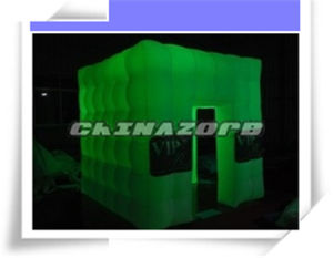 Full Green Glow Beautiful Inflated Photo Booth with Customized Logo pictures & photos