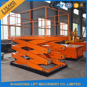 2ton Hydraulic Freight Warehouse Scissor Auto Lift with Ce pictures & photos
