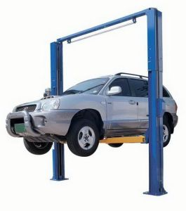 Two Post Clear Floor Gantry Hydraulilc Car Lift pictures & photos