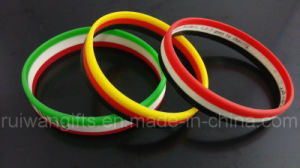 World Cup Country Flag Silicone Bracelet pictures & photos