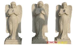 Polished White Marble Angel Statue (XMJ-FG07)