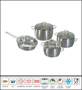 8PCS Stainless Steel Belly Shape Cookware Set pictures & photos