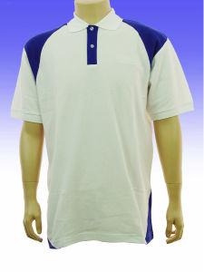 White/Blue Polo Shirt pictures & photos