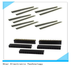 Double Row 2.54mm Pitch Straight Female Male Pin Header Socket pictures & photos