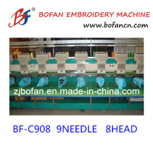Commerical Computer 8heads Embroidery Machine for Cap T-Shirt Flat Embroidery pictures & photos