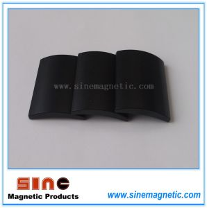 Black Epoxy Arc Neodymium Permanent Magnet pictures & photos