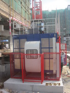 SGS Approved Construction Hoist with Single or Double Cage pictures & photos