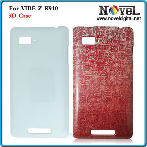 Latest 3D Sublimation Blank Phone Case for Lenovo K910, Sublimation 3D Plastic Phone Cover