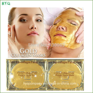 New Gold Bio-Collagen Face Mask Anti-Aging Moisturizing Crystal Collagen Gold Power Facial Mask pictures & photos