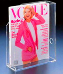 Clear Acrylic Magazine Holder (HY-3012)