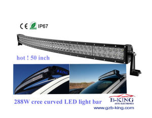 Curved 50′′ 288W LED Light Bar for Offroad 9-32V Vehicle pictures & photos