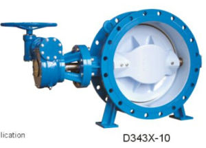 Tht Custom Valve Resilient Seated Double Eccentric Flanged Butterfly Valve pictures & photos