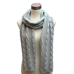 Lady Fashion Acrylic Knitted Winter Warm Scarf (YKY4326) pictures & photos