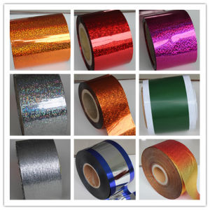 Pet Silver Holographic Film for Tinsle (Eric-0165)