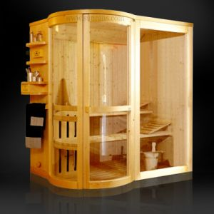 Luxury Steam Sauna Cabinet, Sauna Cabin, Steam Sauna Cabinet with Hemlock Material (SR1Q002) pictures & photos
