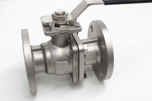2PC SS304 Flanged Ball Valve pictures & photos
