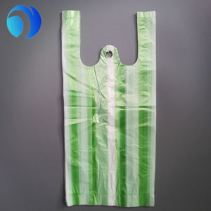 Custom Printed Plastic T Shirt Shopping Bag pictures & photos