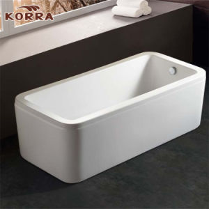 Classic Simple Acrylic Freestanding Bathtub pictures & photos