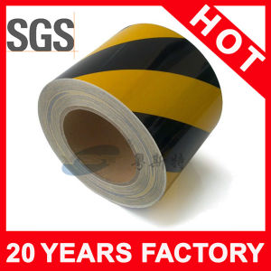 Yellow Black Line PVC Warning Tape (YST-FT-002) pictures & photos
