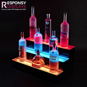Acrylic Colorful Light LED Wine Display Box pictures & photos