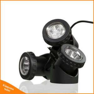 Waterproof Adjustable Solar Powered LED Garden Lamp for Underwater Swimming Pool Pond Spot Lighting pictures & photos