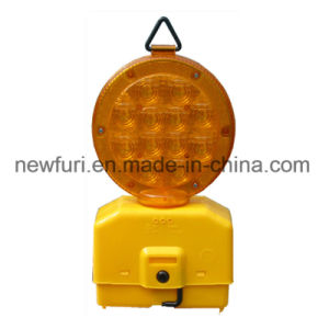 PC Shell Traffic Road Barricade Warning Light One Side with 12 LEDs pictures & photos