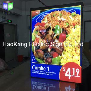 LED Backlit Picture Frame Menu for Restaurant Fast Food Light Box Sign pictures & photos