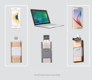 for iPhone 6 6s Plus 5 5s iPad Pen Drive Memory Stick Dual Purpose Mobile OTG Micro USB Flash Drive4GB 8GB 16GB 32GB 64GB pictures & photos