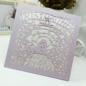 Full Color Offset Printing Custom Pearl Paper Invitation Card pictures & photos