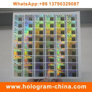 Security Anti-Fake Hologram Stickers with Qr Code Printing pictures & photos