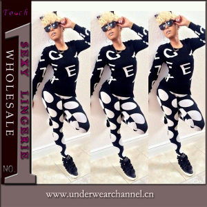 Fashion Ladies Casual Sportwear Sets of Pants and Blouse (TOSM5112) pictures & photos