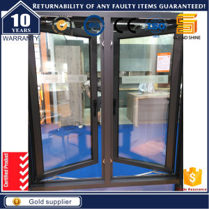 Aluminum French Casement Windows with Fixed Glass (CW-50) pictures & photos