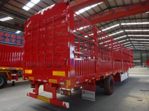 China Factory Supply 13m 75m3 Stake Bed Truck/Fences Trailer/Horse Trailers pictures & photos