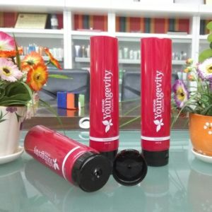 Diameter 50mm Shampoo Cosmetic Container with Flip Top Cap pictures & photos