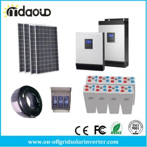 off Grid Solar Kit 1000W Solar PV 9.6kwh Gel Bank 2.4kw Inverter Charger pictures & photos