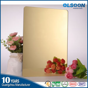 Olsoon Golden Acrylic Mirror Sheet Plastic PMMA Sheet pictures & photos