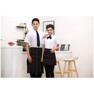 Fashion Blouse Unisex Restaurant Hotel Uniform with Cotton/Polyester pictures & photos