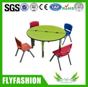 Kindergarten School Wooden Round Classroom Children Table with Chair pictures & photos