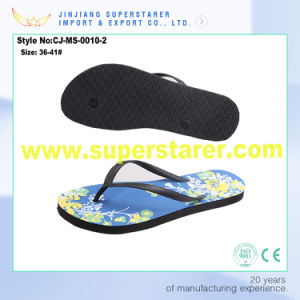 Softy Comfortable PE Flip Flop Cheap Women Wedge Slippers pictures & photos